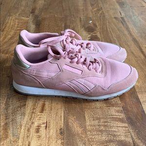 Pink Reebok sneakers